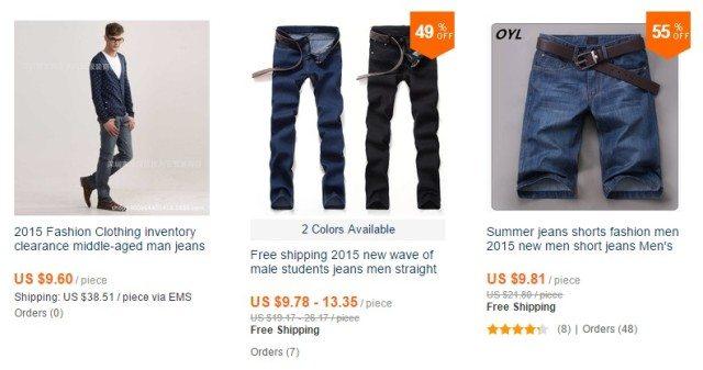 panske jeansy
