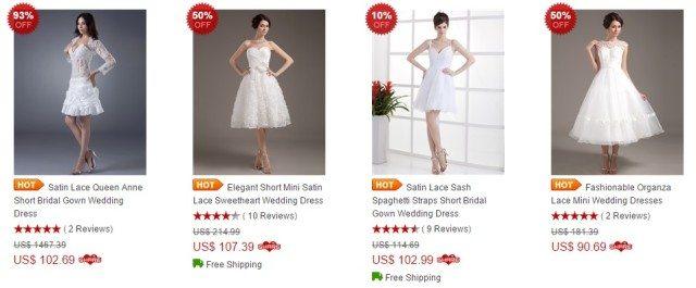 DinoDirect svatební šaty