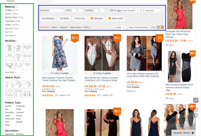 Oblečení Aliexpress