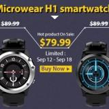 Microwear H1 3G Smartwatch - chytré hodinky za bezkonkurenční cenu!
