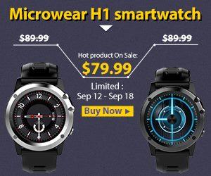 Microwear H1 3G Smartwatch – chytré hodinky za bezkonkurenční cenu!